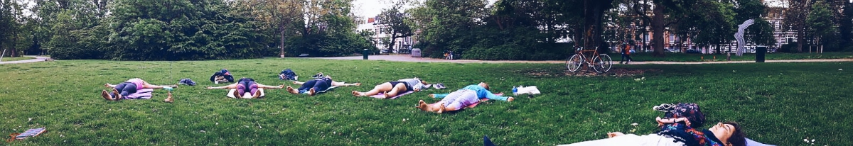 Sunday yoga in the park
