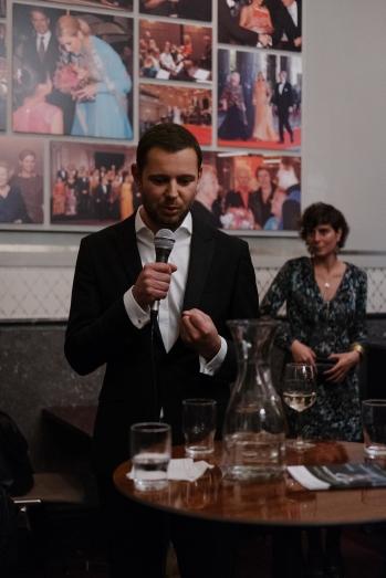 Director Lucas van Woerkum (and me in the background)