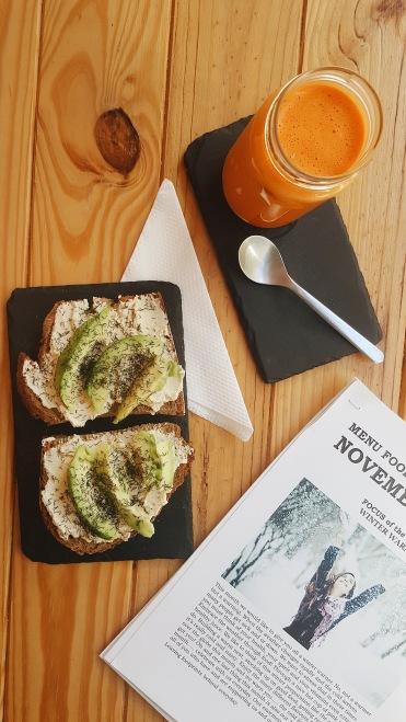 Hummus + avo toast