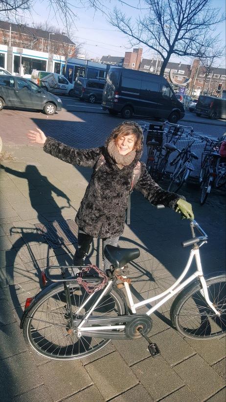 Yeti with a bike.