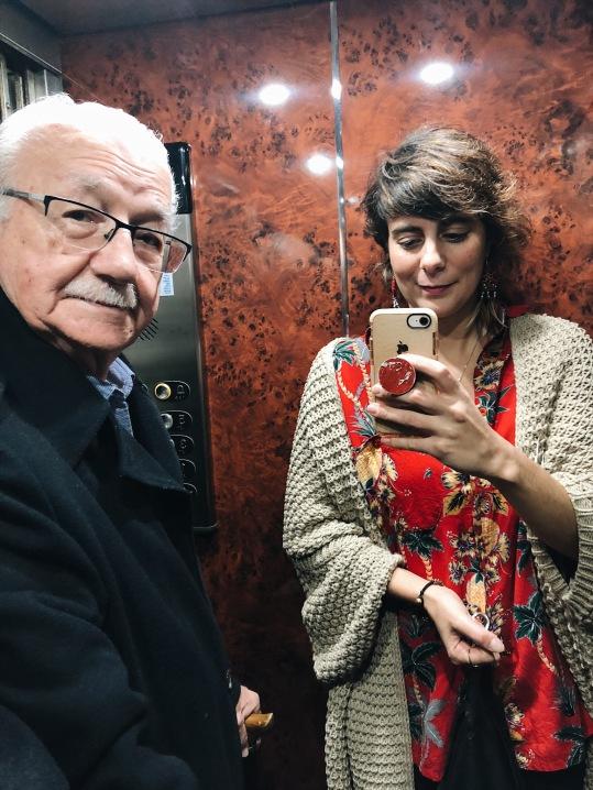 Selfie with grandpa
